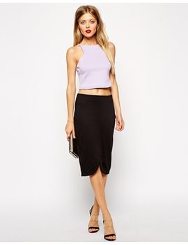 asos-pencil-skirt-with-curved-centre-front-split by asos-collection