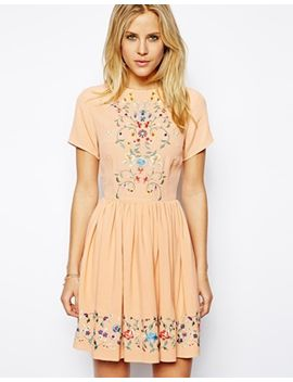 asos-premium-skater-dress-with-pretty-floral-embroidery by asos-collection