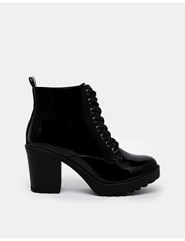 river-island-ida-patent-lace-up-ankle-boots by river-island