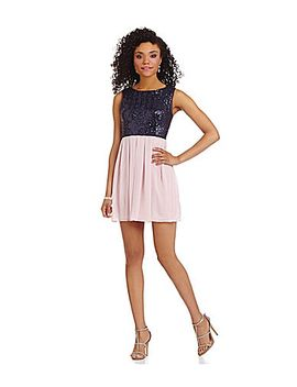 b-darlin-sequin-bodice-sleeveless-dress by generic