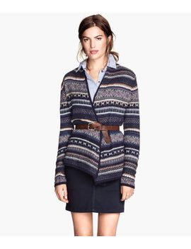 jacquard-knit-cardigan by h&m