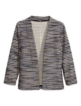 textured-knit-cardigan by h&m