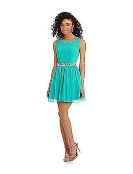 jodi-kristopher-bead-neck-and-waist-party-dress by generic