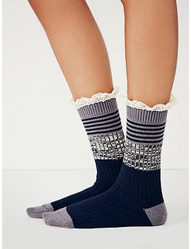 nautical-heathered-highland-boot-sock by free-people