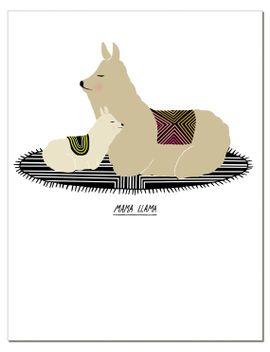 mama-llama-notecard by laurageorge