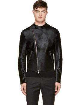 black-calf-hair-jacket by costume-national