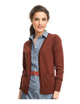 signature-merino-v-neck-cardigan by llbean