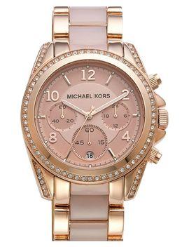 blair-crystal-bezel-two-tone-bracelet-watch,-39mm by michael-kors