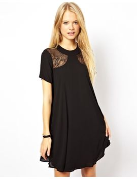 asos-lace-insert-swing-dress by asos-collection