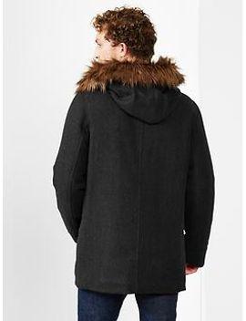 wool-fur-trim-jacket by gap