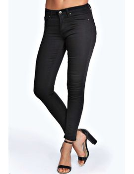 jess-mid-rise-ankle-length-skinny-jeans by boohoo