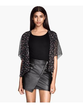 skirt-in-imitation-leather by h&m