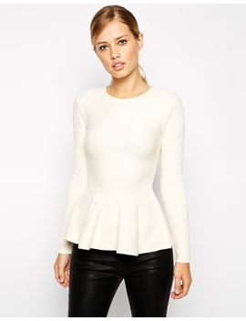 ted-baker-ribbed-sweater-with-peplum by ted-baker