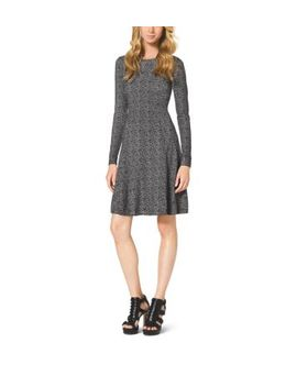 printed-cotton-blend-dress by michael-kors