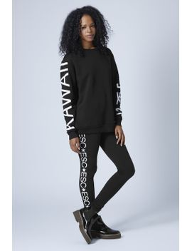 logo-sweat-and-leggings-by-escapology by topshop