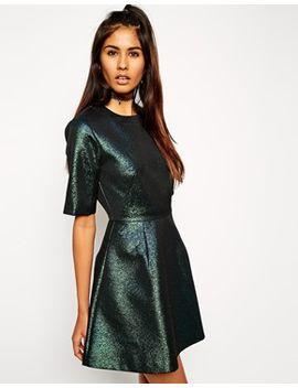 asos-holographic-shift-dress by asos-collection