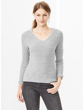 heathered-v-neck-sweater by gap