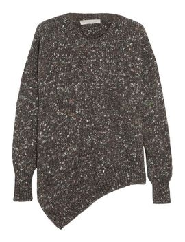 asymmetric-chunky-knit-wool-blend-sweater by stella-mccartney