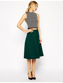 asos-midi-circle-skirt-in-woven-crepe by asos-collection