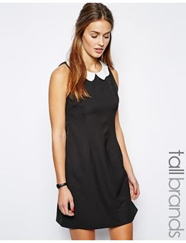 glamorous-tall-shift-dress-with-scallop-collar by glamorous-tall