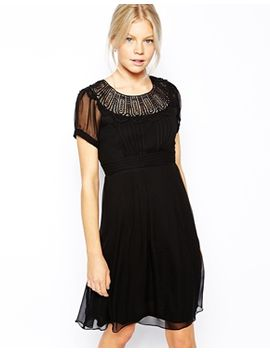 traffic-people-land-of-silk-midi-dress-with-lace-collar by midi-dress
