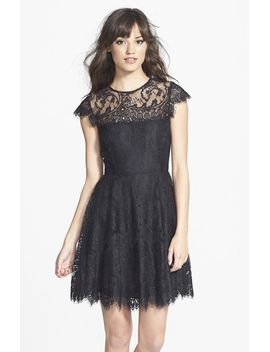 rhianna-illusion-yoke-lace-fit-&-flare-dress by bb-dakota