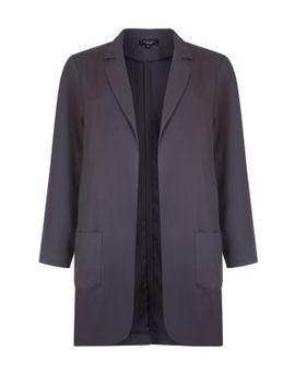 inspire-dark-grey-duster-coat by new-look