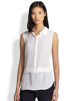 ian-silk-sleeveless-shirt by alc