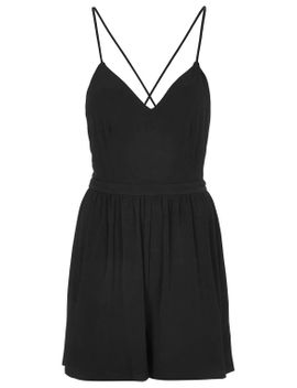 backless-jersey-playsuit by topshop