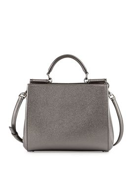 miss-sicily-medium-shopper-bag,-gray-metallic by dolce-&-gabbana