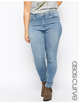 asos-curve-exclusive-ridley-skinny-jeans-in-brooklyn-light-wash-blue by asos-curve