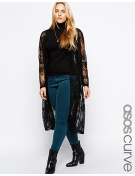 asos-curve-festival-kimono-in-lace by asos-curve