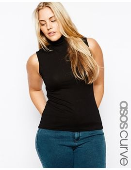 asos-curve-sleeveless-high-neck-top by asos-curve