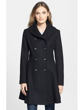 skirted-wool-blend-coat by via-spiga