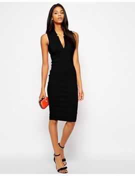 asos---robe-fourreau-sexy-avec-décolleté-plongeant-en-v by asos-collection