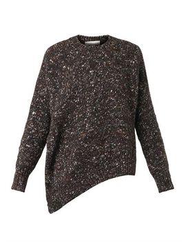 asymmetric-wool-blend-sweater-(209305) by stella-mccartney