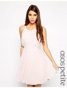 exclusivité-asos-petite---robe-drapée-à-jupe-plissée by asos-petite