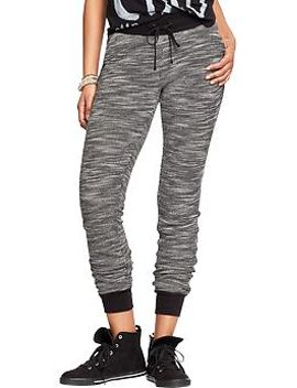 womens-marled-terry-fleece-joggers by old-navy