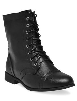 lace-up-combat-boots---wide-width by wet-seal