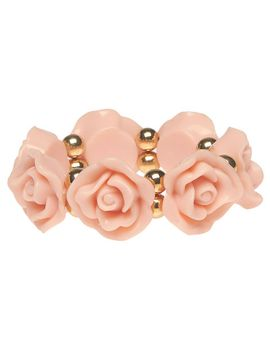 ring-of-roses-stretch-bracelet by wet-seal