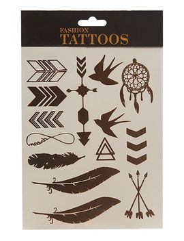 boho-metallic-temporary-tattoos by wet-seal