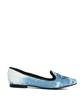 yru-lavish-mushroom-denim-flat-shoes by yru