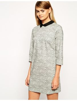 asos-reclaimed-vintage-smudge-wave-collar-dress by asos-collection