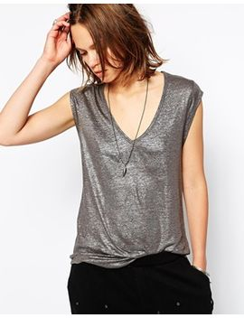 zadig-and-voltaire-tank-top-with-metal-skull-and-foil-detail by zadig-&-voltaire