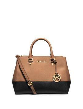 sutton-medium-color-block-saffiano-leather-satchel by michael-kors