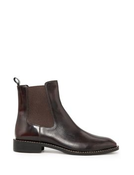 leather-chelsea-ankle-boots by mango