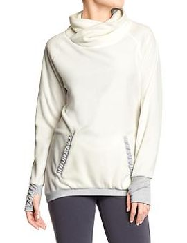 womens-performance-fleece-funnel-neck-pullovers by old-navy