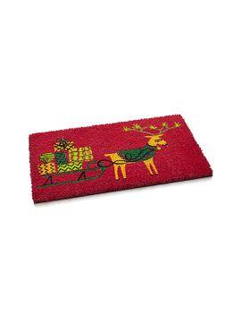reindeer-doormat by crate&barrel
