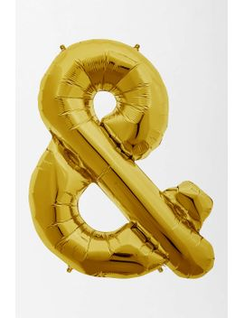 gold-symbol-party-balloon by urban-outfitters