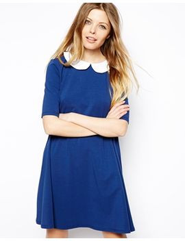 asos-swing-dress-with-contrast-collar by asos-collection